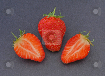 Fresh organic strawberries. stock photo, Fresh organic strawberries ready to eat as part of the five a day. by Ian Langley