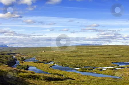 Narfastadir Landscape stock photo, The lush green valley at Narfastadir, just west of Myvatn. by Corepics VOF