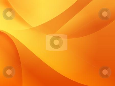 Orange Wallpaper stock photo, Orange background illustration of flows for wallpaper. by Henrik Lehnerer