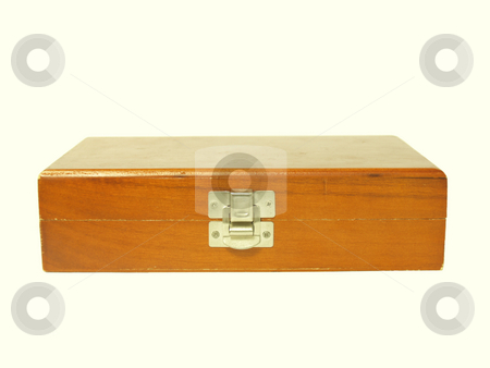 Box stock photo, Wooden box on a white background by Jose .