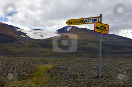 Rough interior road stock photo, The rough interior road to the Askja volcano in Iceland by Corepics VOF