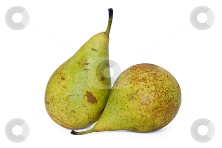 Two pears stock photo, Couple of conference pears isolated on white background by ANTONIO SCARPI