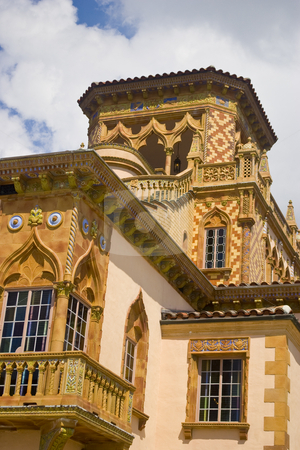 Venetian Bell Tower stock photo, Detail of bell tower on elegant, venetian-style mansion. by Steve Carroll
