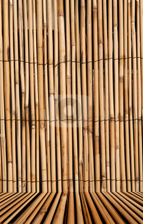Bamboo texture background with studio floor stock photo, Rush or bamboo texture with studio floor for inserting isolated images, digital image by Stacy Barnett