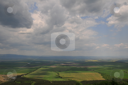 Landscape of  thrace valley  stock photo, The thrace valley, Bulgaria from bird`s eye by Zheko Zhekov