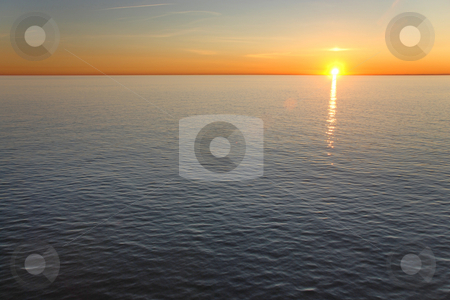 Ocean sunset stock photo, Occean sunset on open sea. by Gjermund Alsos
