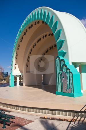 Modern Amphitheater stock photo, Modern amphitheater awaiting concert by Steve Carroll