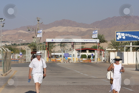 Israel Jordan Border Crossing stock photo, The border crossing between Jordan and Israel.  Known as the Yitzhak Rabin terminal or the Wadi Araba Terminal by Chris Budd