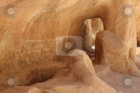 Approach to Petra thorugh the Siq stock photo,  by Chris Budd