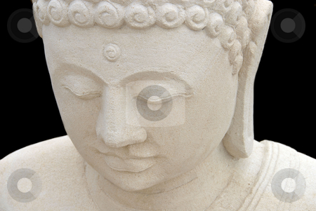 Buddha  stock photo, Statue stone Buddha by Laura Smith