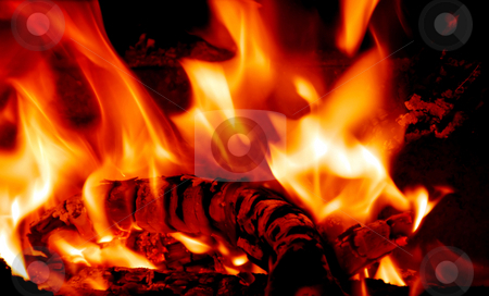 Fire stock photo, Fire flames by Laura Smith