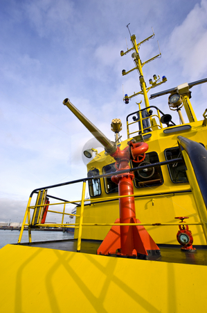 Water gun on a fire boat stock photo, The water gun of a harbor patrol fire boat by Corepics VOF