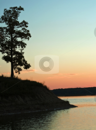 Beautiful Sunset over Lake Shelbyville stock photo, Beautiful sunset over lake shelbyville in illinois by Dennis Crumrin