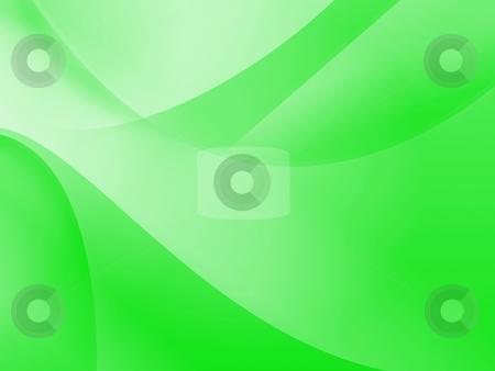 Green Wallpaper stock photo, Green background illustration of flows for wallpaper. by Henrik Lehnerer
