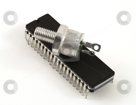 Semiconductors stock photo, Different semiconductors used in electronic equipment and in circuits by Albert Lozano