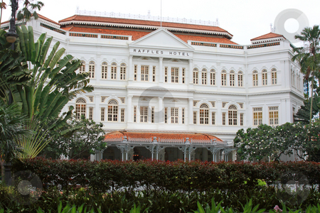 Raffles Hotel Singapore stock photo, Raffles Hotel in Singapore;photographed in October 2008 by Manuela Schueler