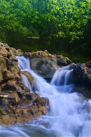 Parod River Israel stock photo, Flowing water the Parod river in the Galilee, Israel by Noam Armonn