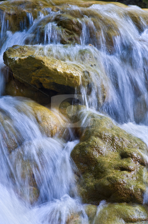 Parod River Israel stock photo, Flowing water the Parod river in the Galilee, Israel by Noam Armonn