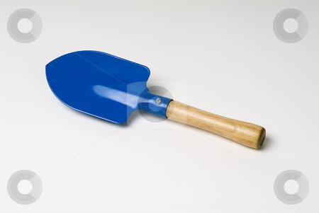 Blue Spade stock photo, Blue spade  kids garden tool by Noam Armonn