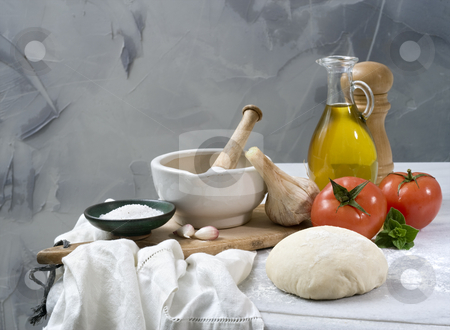 Baking ingredients stock photo, Italian baking ingredients by Noam Armonn