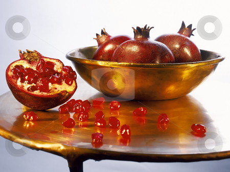 Pomegranates stock photo, Juicy ripe pomegranates by Noam Armonn