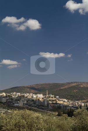 Arab Village stock photo, The Arab village of Nachef in the Galilee, Israel by Noam Armonn