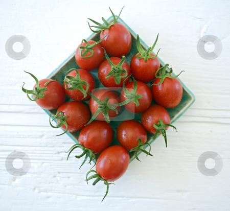Plum cherry tomatoes close up stock photo, Close up of plum cherry tomatoes by Noam Armonn