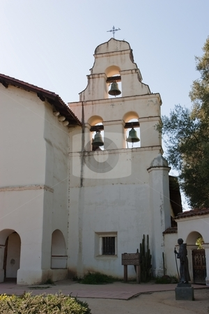 Mission San Juan Bautista stock photo, Mission San Juan Bautista was founded on June 24, 1797 in what is now the San Juan Bautista Historic District of San Juan Bautista, California. Barracks for the soldiers, a nunnery, the Jose Castro House, and other buildings were constructed around a large grassy plaza in front of the church and can be seen today in their original form. by Mariusz Jurgielewicz