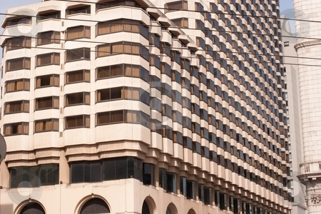 Office building stock photo, Modern office building in financial district of downtown by Mariusz Jurgielewicz