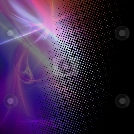 Fractal Halftone Dots Texture stock photo, A funky and modern looking fractal texture with halftone dots. by Todd Arena