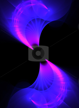 Purple Fractal Twirl stock photo, A unique fractal background texture that will enhance any design. by Todd Arena