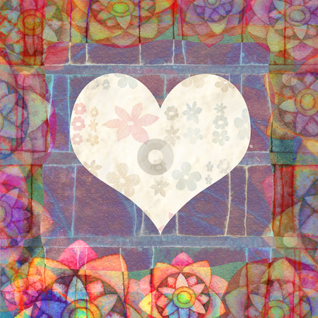 hearts  stock photo, BACKGROUND WITH HEART by Vita Masi