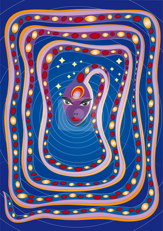 Kundalini stock photo, Illustration by Natacha Audier