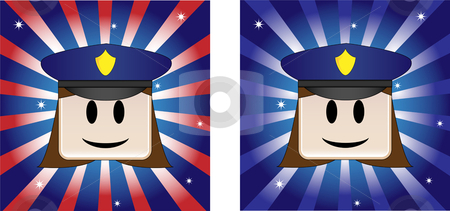 Policewoman Background stock vector clipart, Policewoman Background with Stars and Stripe in american flag colors by Augusto Cabral Graphiste Rennes