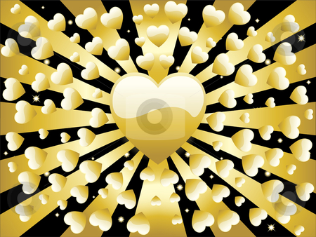 Golden Background Stars and Sun stock vector clipart, Stars and circles golden retro background by Augusto Cabral Graphiste Rennes