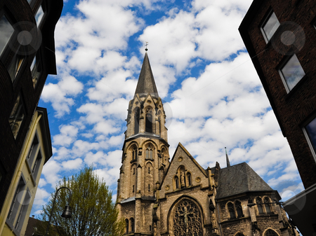 Church stock photo, Small church in Aachen Germany by Jaime Pharr