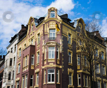 Aachen building stock photo, Colorful building in Aachen Germany by Jaime Pharr