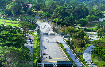 Kuala Lumpur Road Network stock photo, Road network and design in Kuala Lumpur by Robert Ford