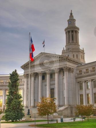 Denver Capitol Building stock photo, Color HDR image of the Denver Capitol building. by Michael Rice