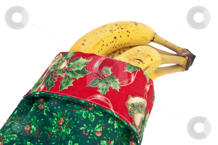Christmas Banannas stock photo, Christmas stocking full of delicious bananas by Steve Carroll