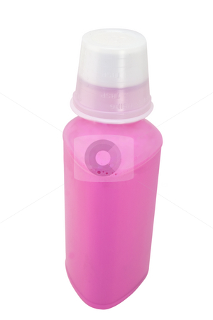 Pink Stuff stock photo, Bottle of pink bismo for stomac, isolated with clipping path. by Steve Carroll
