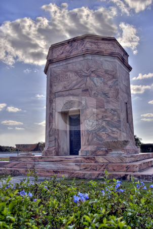 Burial site of Charles Ringling stock photo, Marble tomb of Charles Ringling (died 1926) in Bradenton, Florida. by Steve Carroll