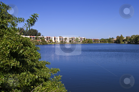 Luxury Retirement Home stock photo, Luxury Retirement Home with private lake by Steve Carroll