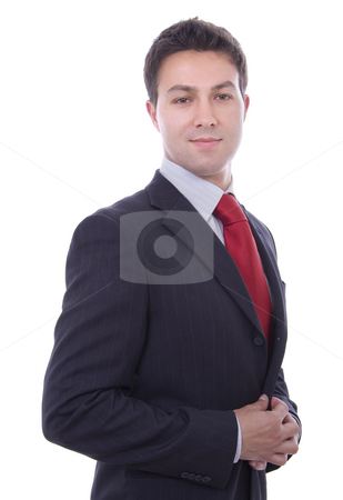 Portrait of merry young successful businessman stock photo, Portrait of merry young successful businessman by Cristovao Oliveira