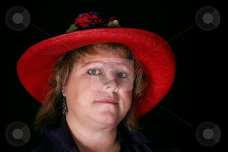 Beautiful woman 25 stock photo, Beautiful caucasian woman portrait isolated on black background by Stacy Barnett