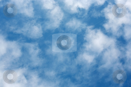 Cloudy sky 5 stock photo, Soft white cloudy blue sky texture background by Stacy Barnett