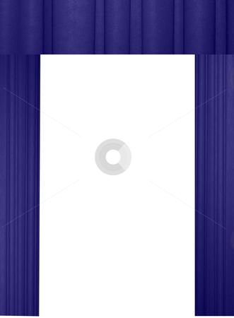 Blue curtains stock photo, Elegant blue velvet curtains with white background by Stacy Barnett