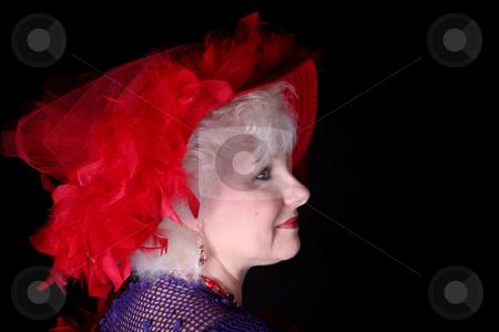 Beautiful woman 28 stock photo, Beautiful senior woman isolated on black background by Stacy Barnett