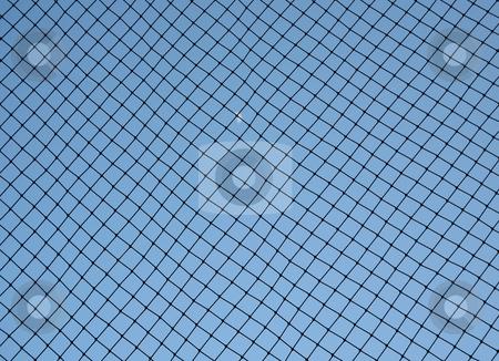 Baseball netting stock photo, Baseball netting behind home base to stop foul balls by Stacy Barnett