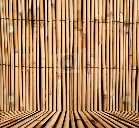 Bamboo pattern background with floor stock photo, Rush or bamboo texture background with floor, digital image by Stacy Barnett